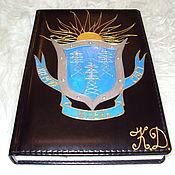 Канцелярские товары handmade. Livemaster - original item The diary painted a Symbol of Energy. Handmade.