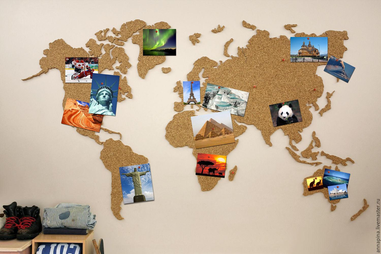 Карта мира из дерева 97