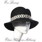 Аксессуары ручной работы. Ярмарка Мастеров - ручная работа Купить фетровую шляпу с полями чёрного цвета на осень. Handmade.