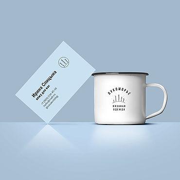 """Дизайн и реклама ручной работы. Ярмарка Мастеров - ручная работа Визитка с логотипом """"Лукоморье"""". Handmade."""
