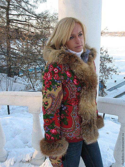 """Верхняя одежда ручной работы. Ярмарка Мастеров - ручная работа. Купить Курточка """" Русские узоры """" с капюшоном - 2. Handmade."""