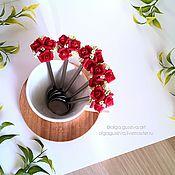 Посуда ручной работы. Ярмарка Мастеров - ручная работа Цветочные ложечки. Handmade.