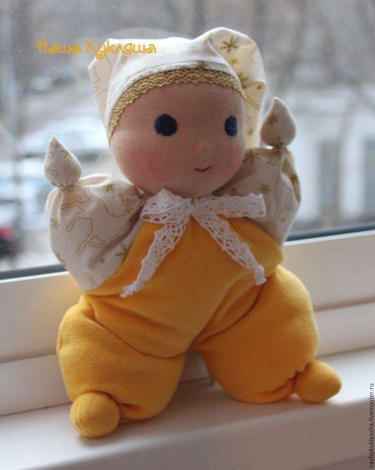 Вальдорфская игрушка ручной работы. Ярмарка Мастеров - ручная работа. Купить Вальдорфская игрушка Малыш Олежка. Handmade. Желтый
