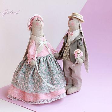 """Куклы и игрушки ручной работы. Ярмарка Мастеров - ручная работа Тильды: Пара зайчиков """"Нежность"""". Handmade."""