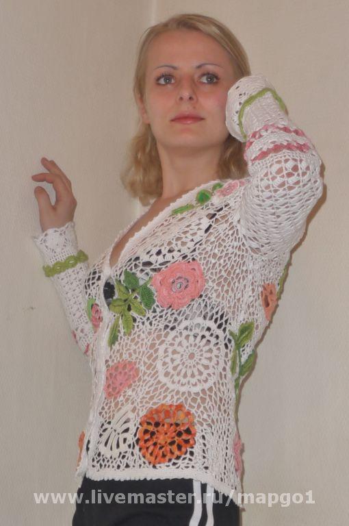 """Пиджаки, жакеты ручной работы. Ярмарка Мастеров - ручная работа. Купить Жакет """"Нежность"""". Handmade. Хлопок"""