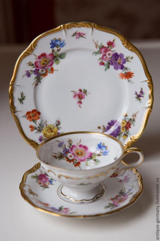 Винтажная посуда. Ярмарка Мастеров - ручная работа. Купить 1929-72 г., чайное трио, Edelstein, Maria Theresia, Германия. Handmade.