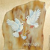 Свадебный салон handmade. Livemaster - original item Magnet stone painted Wedding Magnet custom. Handmade.