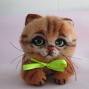 """Войлочная игрушка ручной работы. Ярмарка Мастеров - ручная работа Кошечка""""Лили""""- работа из шерсти. Handmade."""