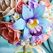 """Цветы и флористика ручной работы. Ярмарка Мастеров - ручная работа Топиарий """"Голубая орхидея"""". Handmade."""