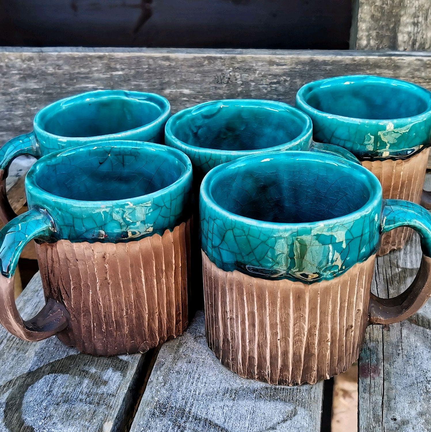 Большой набор кофейных кружек ручной работы для чая кофе, Кружки и чашки, Москва,  Фото №1