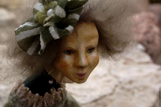 Ярмарка Мастеров - ручная работа. Купить подарок. Handmade Коллекционная, интерьерная, Авторская подвижная кукла. Смешанная техника: папье-маше, паперклей