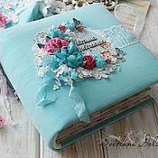 Сувениры и подарки handmade. Livemaster - original item Album for a newborn baby gift baby turquoise. Handmade.