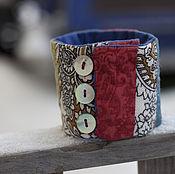 Браслет из бусин ручной работы. Ярмарка Мастеров - ручная работа Браслет текстильный Лоскутный. Handmade.