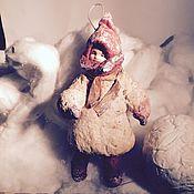 """Куклы и игрушки ручной работы. Ярмарка Мастеров - ручная работа Ватная елочная игрушка """"Девочка"""". Handmade."""