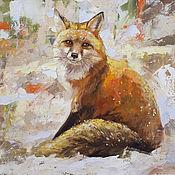 Картины и панно handmade. Livemaster - original item Picture oil paints on canvas. Bright Fox Animals Fox. Handmade.