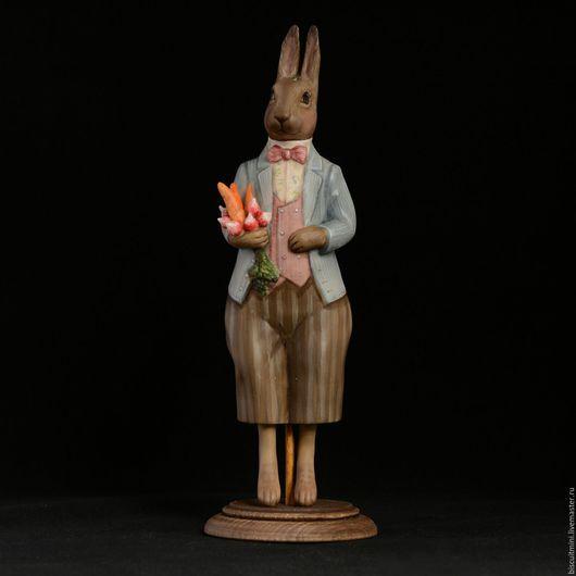 Коллекционные куклы ручной работы. Ярмарка Мастеров - ручная работа. Купить Заяц. Handmade. Комбинированный, елочная игрушка, фарфор