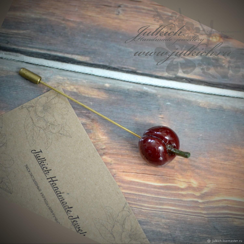 Brooch-needle 'cherry', Stick pin, Krasnodar,  Фото №1