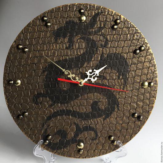 Часы для дома ручной работы. Ярмарка Мастеров - ручная работа. Купить Часы настенные с драконом. Handmade. Часы настенные, дракон