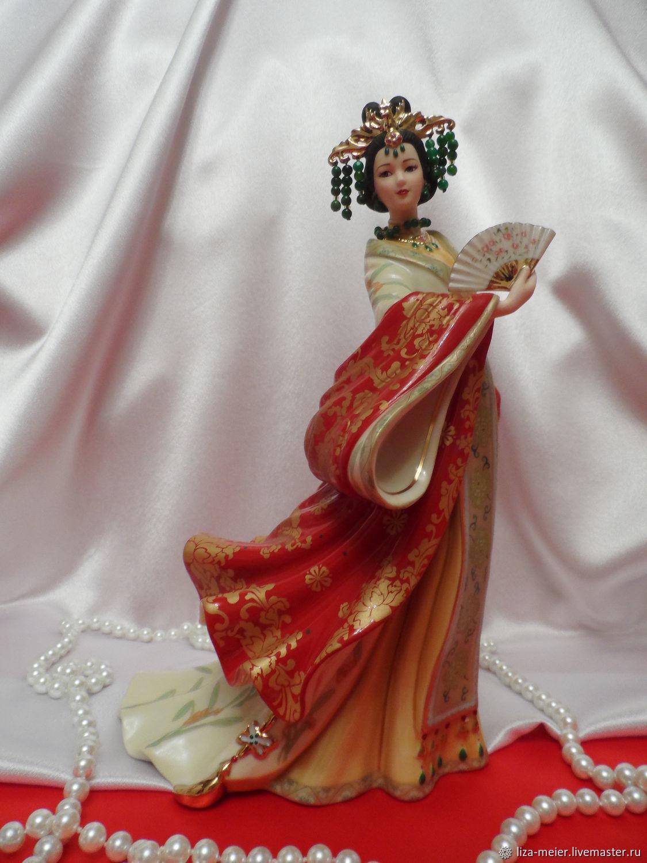 Винтаж: Редкость! Lena Liu прекрасная статуэтка Нефритовая императрица отлично, Предметы интерьера винтажные, Санкт-Петербург,  Фото №1
