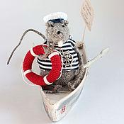 Куклы и игрушки ручной работы. Ярмарка Мастеров - ручная работа Вязаная игрушка крыса. Морской крыс-спасатель.. Handmade.