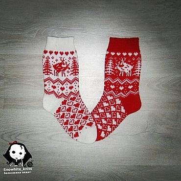 Сувениры и подарки ручной работы. Ярмарка Мастеров - ручная работа Парные носки для влюбленных. Handmade.