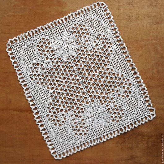 """Текстиль, ковры ручной работы. Ярмарка Мастеров - ручная работа. Купить Салфетка крючком """"Фокстрот"""". Handmade. Белый, ажурная салфетка"""
