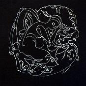 Картины и панно handmade. Livemaster - original item The graphic pattern white on black. Handmade.