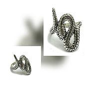 Украшения handmade. Livemaster - original item Snake Ring. silver ring snake.. Handmade.