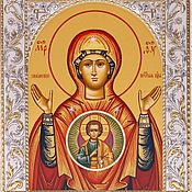 Русский стиль handmade. Livemaster - original item Sign icon of the mother Of God (14x18). Handmade.