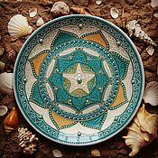 """Посуда ручной работы. Ярмарка Мастеров - ручная работа Интерьерная тарелочка """"Ocean"""". Handmade."""