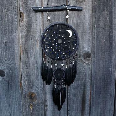 Feng Shui handmade. Livemaster - original item Dreamcatcher the Night Sky the Trap of dreams. Handmade.