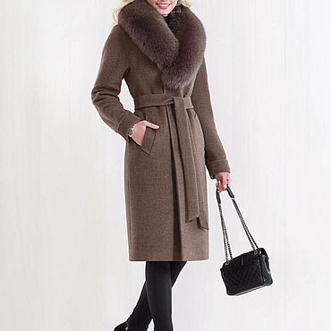 Одежда ручной работы. Ярмарка Мастеров - ручная работа Зимнее пальто с мехом 33П. Handmade.