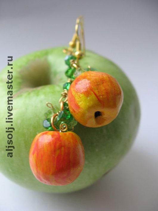 """Серьги ручной работы. Ярмарка Мастеров - ручная работа. Купить серьги """"райские яблочки"""". Handmade."""