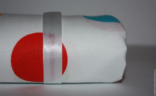"""Шитье ручной работы. Ярмарка Мастеров - ручная работа. Купить Хлопок """"Яркий горох"""" 4 см. Handmade. Комбинированный, ткань"""