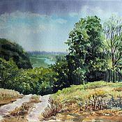 """Картины и панно ручной работы. Ярмарка Мастеров - ручная работа Картина """"Долина реки Сейм"""". Handmade."""