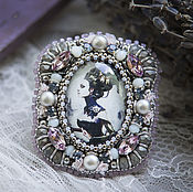 """Украшения ручной работы. Ярмарка Мастеров - ручная работа Кольцо """"Кибер-женщина"""" (кольцо, крупное,девушка,киборг, серый). Handmade."""