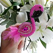 Украшения handmade. Livemaster - original item Brooch FLAMINGO handmade. brooch in gift. Handmade.