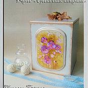 """Для дома и интерьера ручной работы. Ярмарка Мастеров - ручная работа Короб """"Цветочная акварель"""". Handmade."""