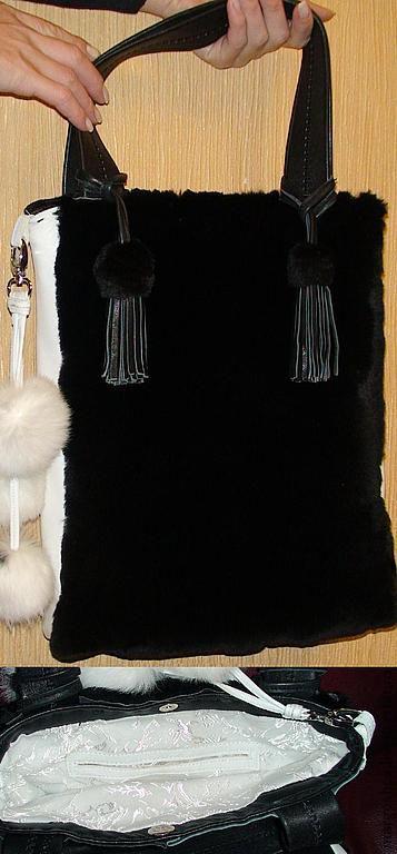 Женские сумки ручной работы. Ярмарка Мастеров - ручная работа. Купить Кожаная сумка с мехом.. Handmade. Сумка из натуральной кожи