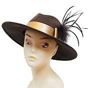 Винтаж handmade. Livemaster - original item Brown felt hat. FILIPPO CATARZI. Handmade.