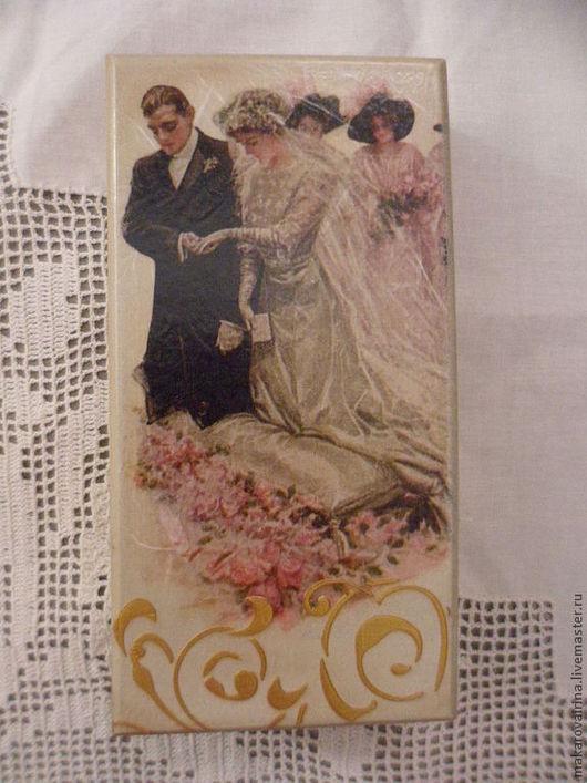 """Подарки для влюбленных ручной работы. Ярмарка Мастеров - ручная работа. Купить Свадебная купюрница """"Венчание"""". Handmade. Бежевый, купюрница"""