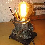 Для дома и интерьера ручной работы. Ярмарка Мастеров - ручная работа Лампа карбюратор. Handmade.