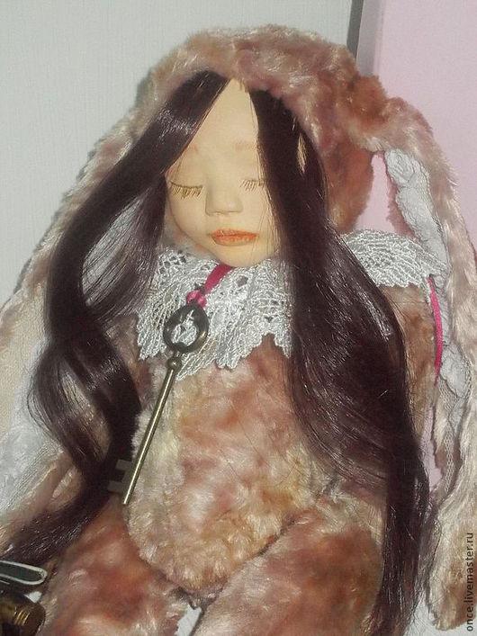 Коллекционные куклы ручной работы. Ярмарка Мастеров - ручная работа. Купить Анна. Handmade. Розовый, Керамическая глина, кружева, опилки