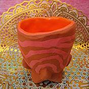 Посуда ручной работы. Ярмарка Мастеров - ручная работа Кубок Оранж керамика ручной лепки. Handmade.
