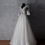 Платья ручной работы. Ярмарка Мастеров - ручная работа Платья: Свадебное платье с эффектом голого тела. Handmade.