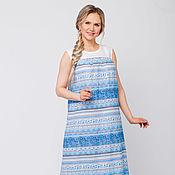 Одежда handmade. Livemaster - original item Dress linen Mountain river. Handmade.