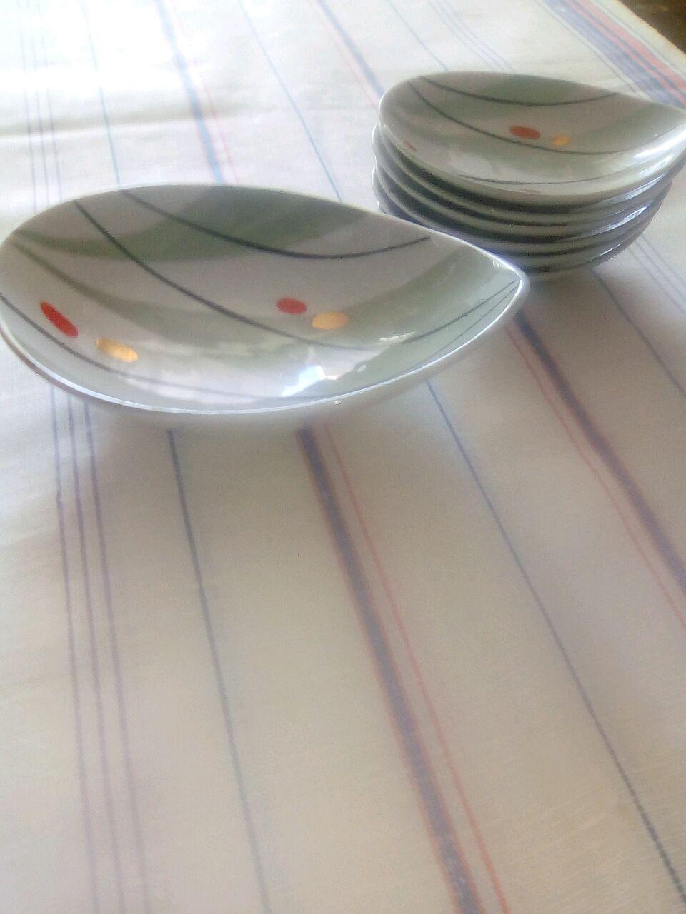Винтаж: Набор винтажный фарфоровый,оригинальной формы, производство- Рига, Сервизы винтажные, Софрино,  Фото №1