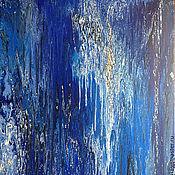 Картины и панно ручной работы. Ярмарка Мастеров - ручная работа Абстрактная живопись. Сапфировый водопад.. Handmade.