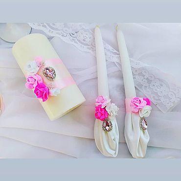 Свадебный салон ручной работы. Ярмарка Мастеров - ручная работа Свечи:  Кристалльная роза. Handmade.