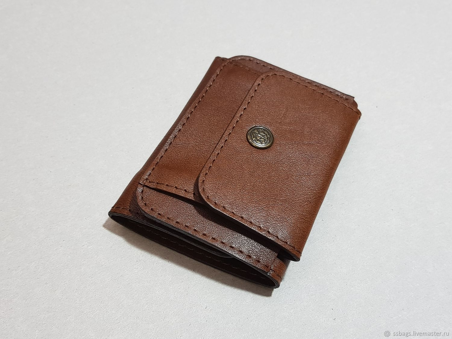 Small leather purse brown, Wallets, St. Petersburg,  Фото №1